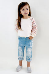 baby girl jeans, toddler patch jeans, baby sara jeans
