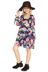 Truly Me floral dress, girls' fall floral dress, cute girls' clothing