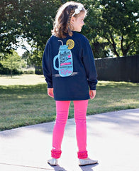girls' pink ruffle leggings- southern girl tee