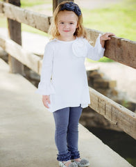 Rufflebutts Faux Denim Ruffle Leggings