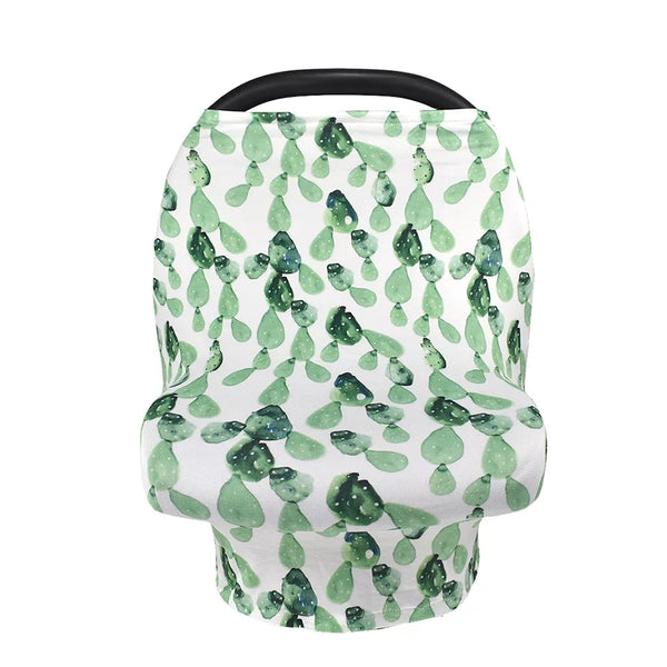 Organic Cotton Carseat Cover- Cactus