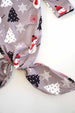 Infant Girls' Gray Snowman Tie Gown with Matching Headband