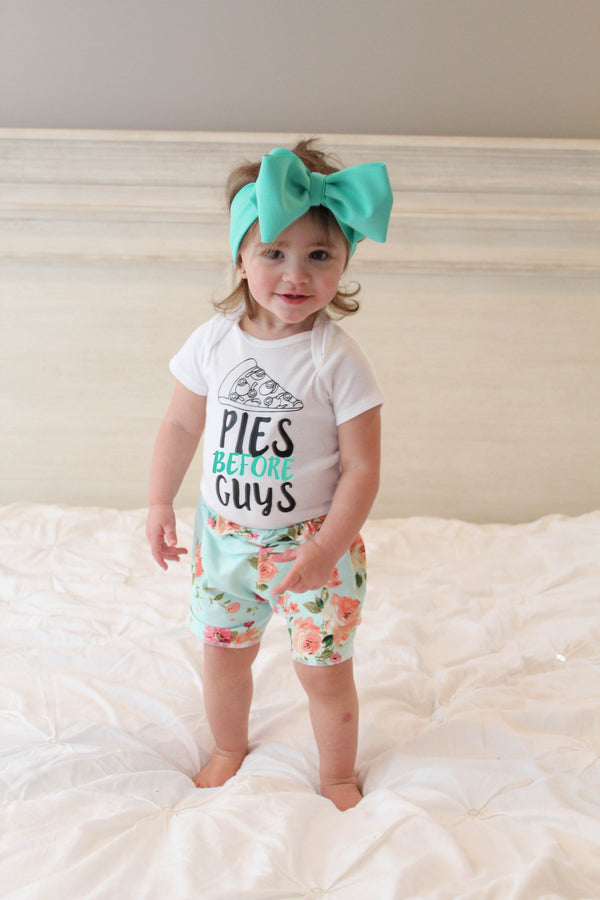 Pies before guys funny infant girl bodysuit