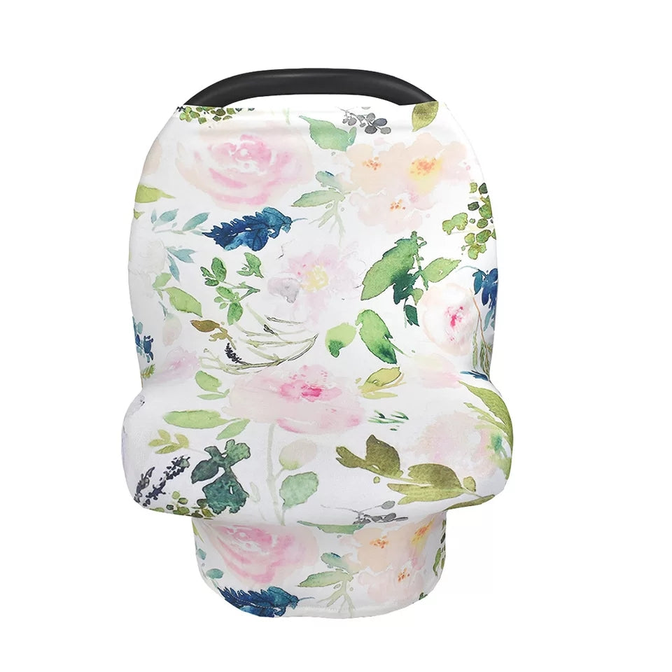 Organic Cotton Carseat Cover- Spring Floral