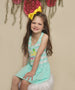 So Sweet Pineapple Striped Birthday dress- luau birthday dress