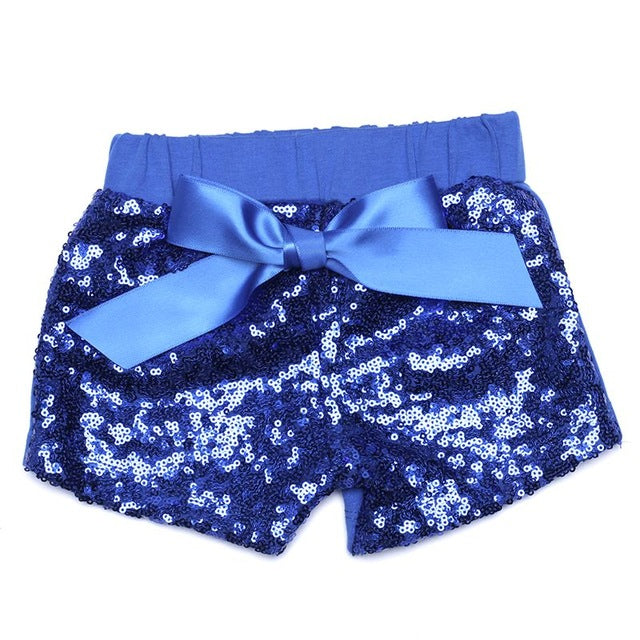 Royal Blue Sequin Shorts