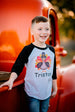 Boys' Personalized Thanksgiving Turkey Raglan Shirt