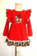 Red leopard reindeer dress