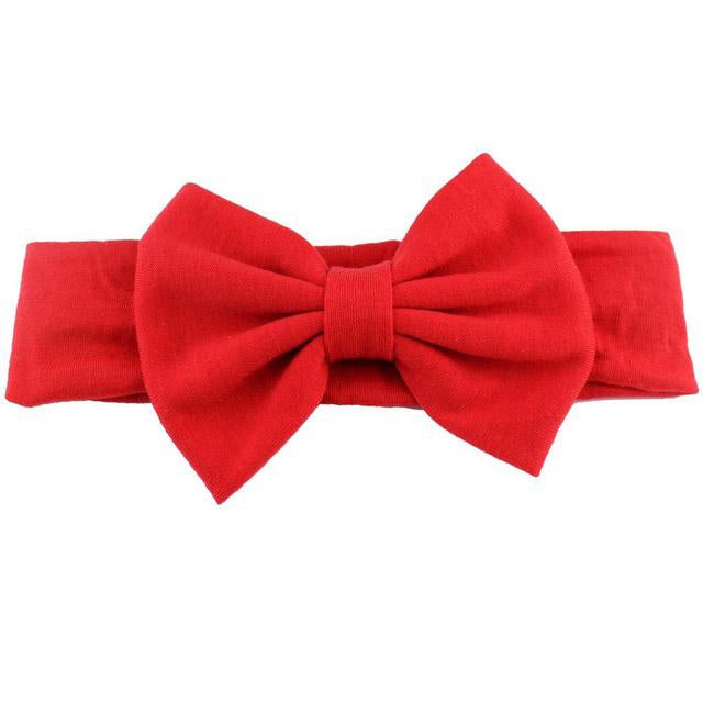 Girls Solid Red Bow Headband, Girls' Hair accessories