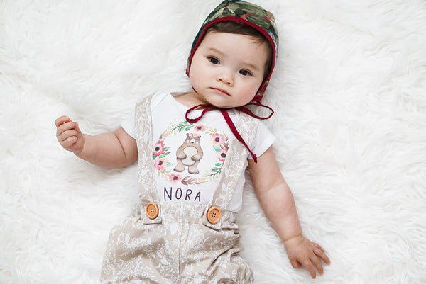 Personalized Boho Bear Onesie®
