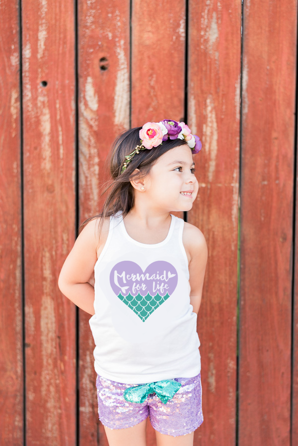 Mermaid for Life Birthday Outfit- Purple Sequin Shorts- Mermaid First Birthday Outfit