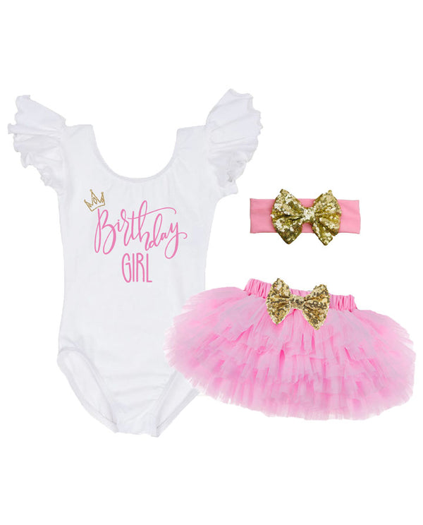 girl first birthday outfit, birthday girl tutu outfit, baby girl smash cake outfit, pink and gold first birthday outfit
