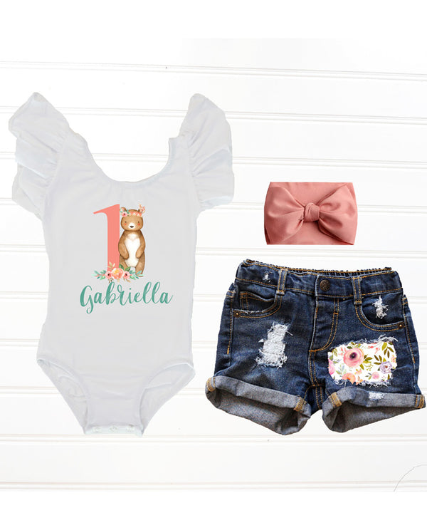 Boho Bear Birthday Outfit