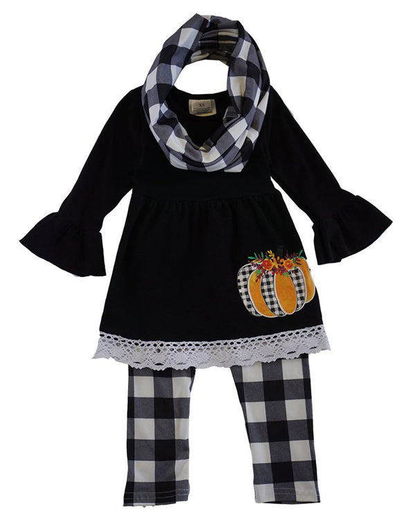 Plaid Pumpkin 3 Piece Set