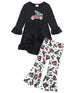 Girls Christmas Tree Truck Bell Bottoms Set