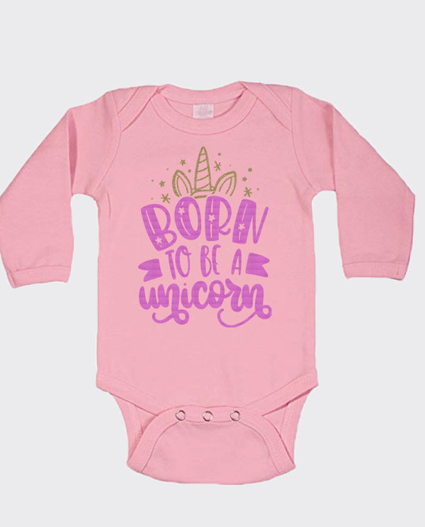 Born To Be A Unicorn Long Sleeve Bodysuit