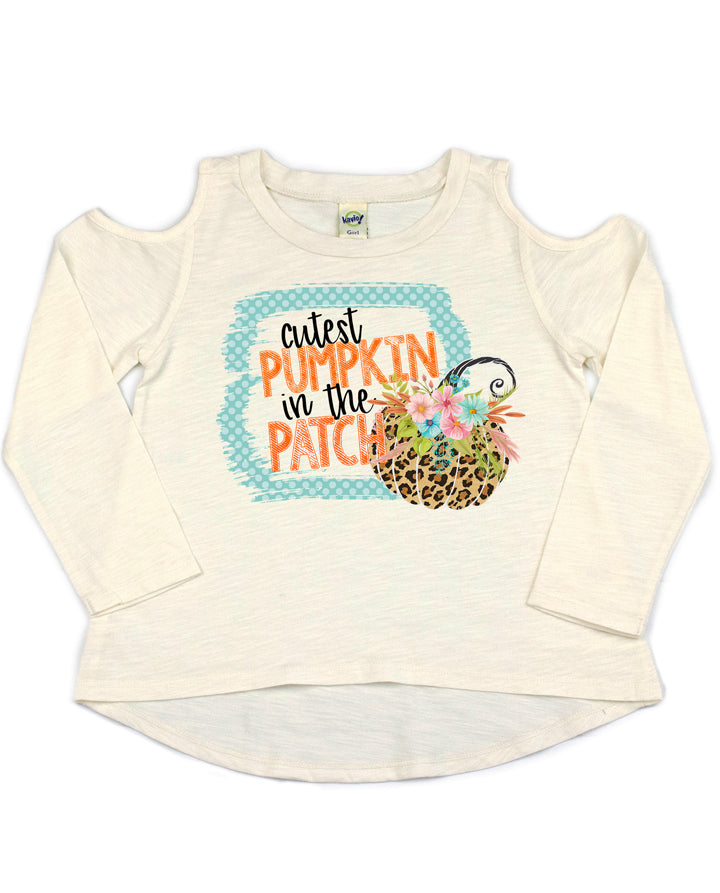 Cutest Pumpkin in the Patch Cold Shoulder Top