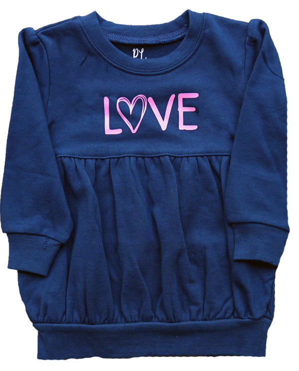 Toddler girls navy sweatshirt