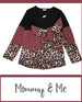 Mommy and Me- Mauve and Leopard Shirt