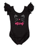 Girls Kitty Cat Leotard, Meow Kitty Outfit, Kitty Cat Outfit, Kitty Costume