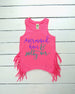 Mermaid hair salty air fringe tank- mermaid birthday outfit