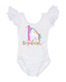 Rainbow Unicorn Birthday Leotard, Unicorn First Birthday Outfit