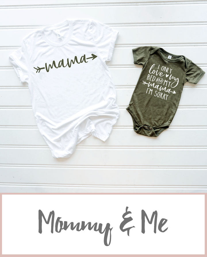 Only Love My Mama T-shirt Set