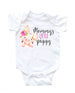 baby girl piggy onesie, mommy's little piggy onesie, cute baby girl clothing
