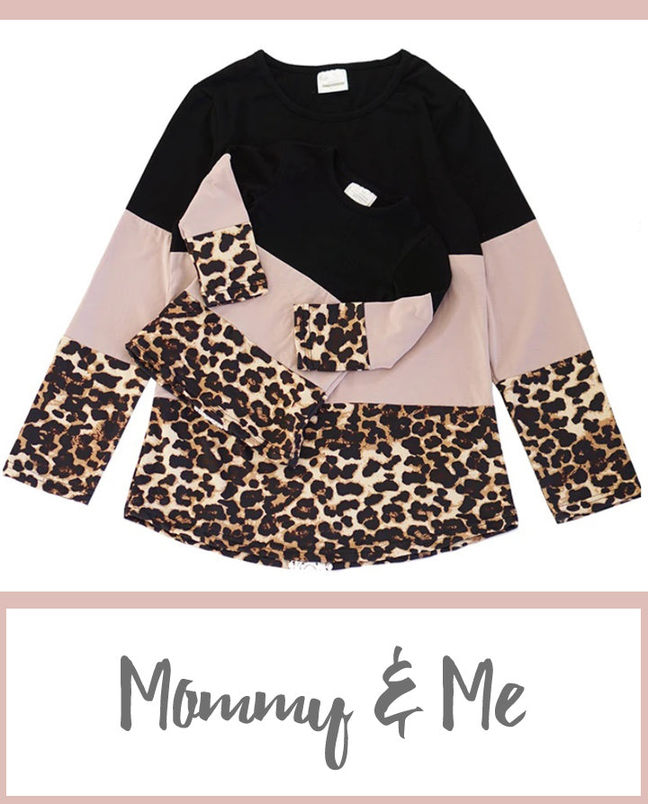 Mommy and Me- Pink and Leopard Shirt