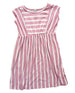 Toddler Girls Pink and White Stripe Midi Dress