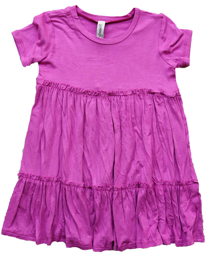 Pomelo Toddler Fuchsia Tiered Dress