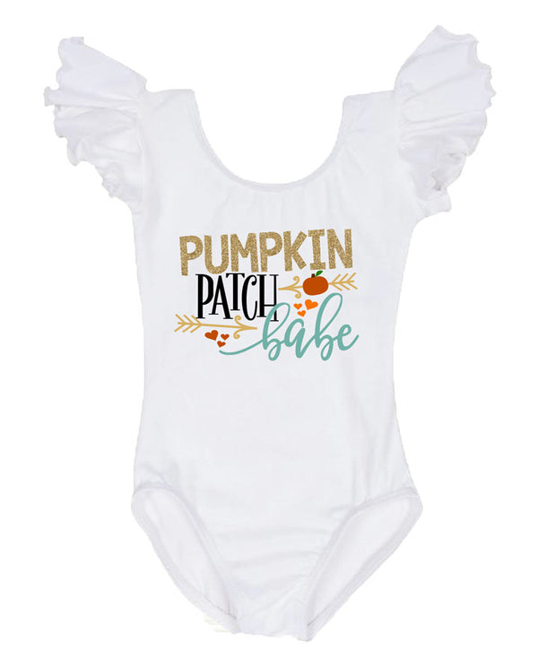 girls pumpkin patch babe leotard, fall birthday outfit, pumpkin first birthday outfit