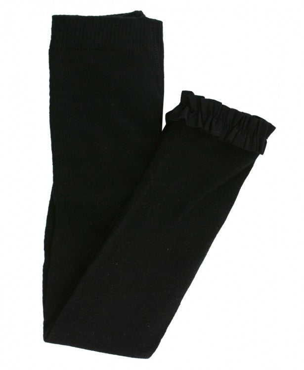 Baby Girl Black Footless Ruffle Tights