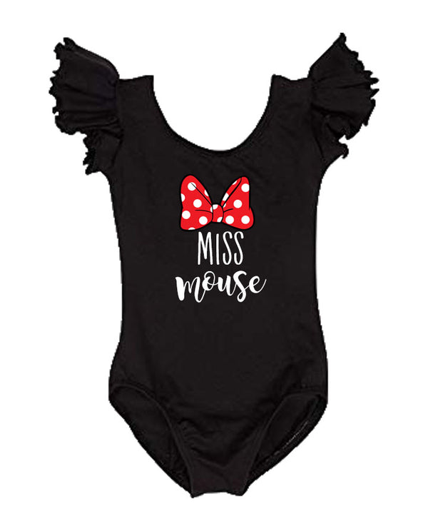 miss mouse leotard, minnie mouse birthday leotard, disney world shirt, first birthday shirt, mouse shirt