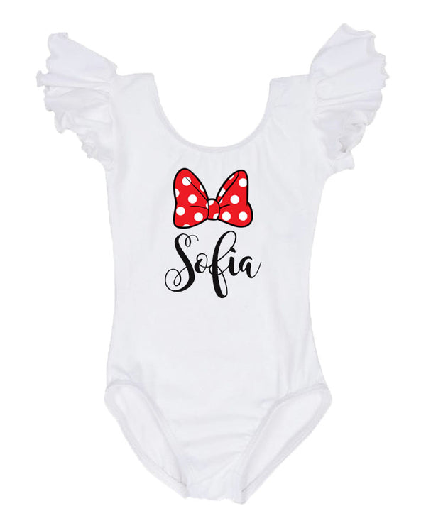 personalized mouse birthday leotard, minnie mouse birthday outfit, minnie mouse first birthday
