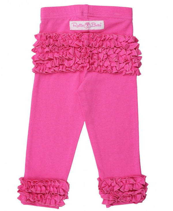 rufflebutts candy pink ruffle leggings