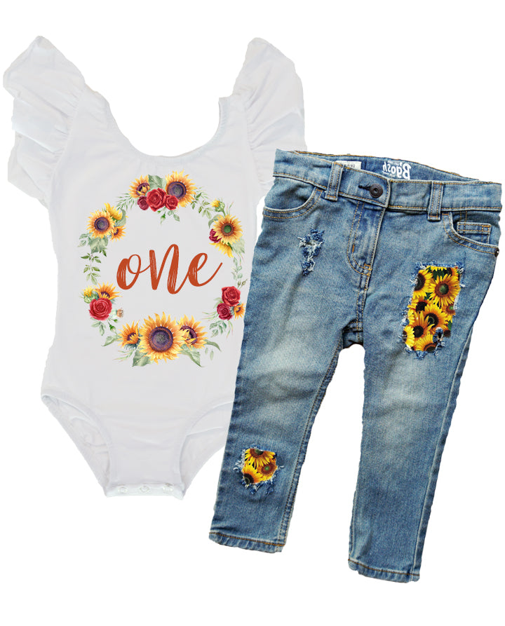 Sunflower and Rose Birthday Outfit