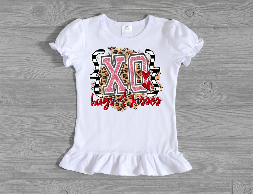 Girls' XOXO Leopard Velvet Bell Bottom Outfit