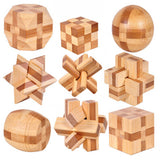 New Design IQ Brain Teaser 3D Bamboo Interlocking Puzzles - Delivered Value