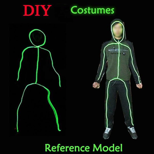 DIY LED Party Festival party Matchstick Men clothes accessories 10 Colors *** FREE SHIPPING *** - Delivered Value