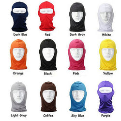 Motorcycle Multi-Colors Lycra Windproof Full Face Mask - Delivered Value
