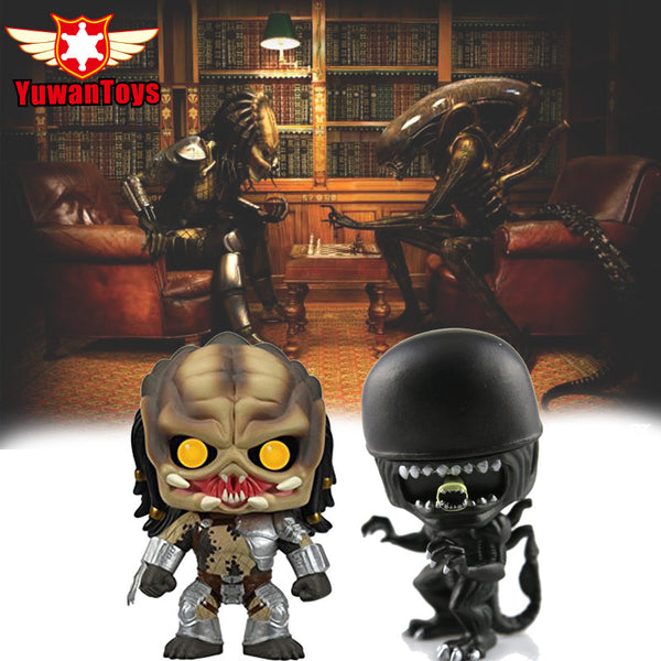 Bobble Head Alien VS Predator Action Figures - Delivered Value