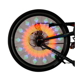 Pair of 21 Pattern Colorful LED Bicycle Wheel Spoke Light - Delivered Value
