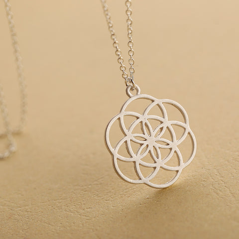 Silver mandala flower of life sacred geometry pendant necklace silver mandala flower of life sacred geometry pendant necklace free shipping aloadofball Gallery