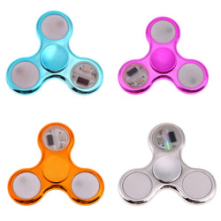 Electroplated LED Fidget Tri-Spinner *** FREE SHIPPING *** - Delivered Value