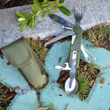 Stainless Steel Multi-functional Tableware Swiss Army Knife LED - Delivered Value