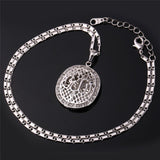 Rhinestone Silver Gold Muslim Allah Pendant Necklace *** FREE SHIPPING *** - Delivered Value