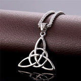 Infinity Knot Gold and Stainless Steel Pendant Necklace *** FREE SHIPPING *** - Delivered Value