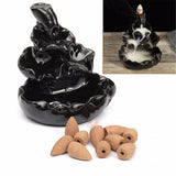 Backflow Ceramic Cone Incense Burner *** FREE SHIPPING *** - Delivered Value