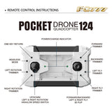 Mini Pocket Drone RC Quadcopter Aircraft With Controller - Delivered Value